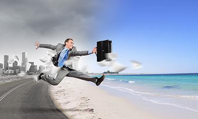 Escape from work, through work