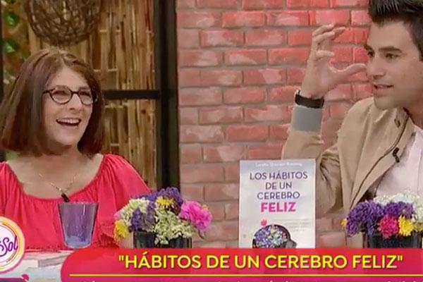 image of loretta breuning on TV