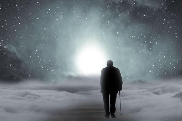 old man walking alone