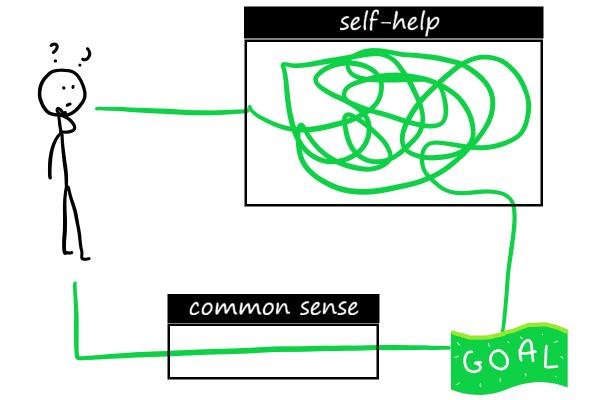 common sense in self help stick drawings