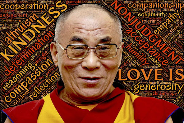 Dalai lama photo and inspirational words
