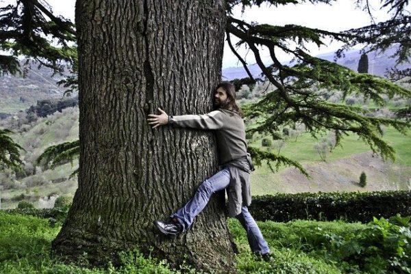 man hugging tree blog for the positive psychology people