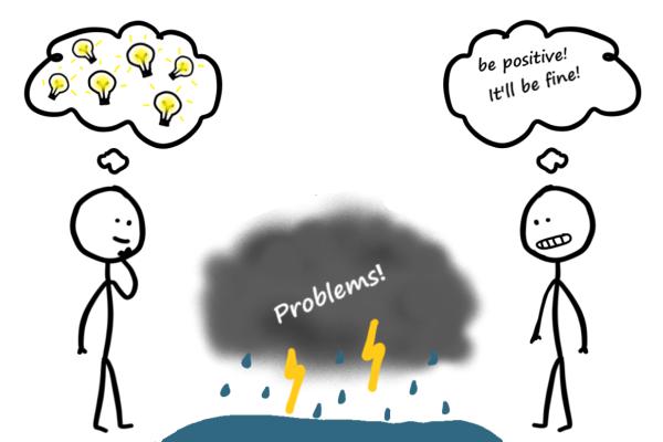 False Positivity Versus True Optimism